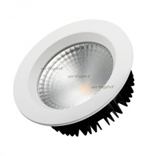 Светодиодный светильник LTD-145WH-FROST-16W White 110deg (ARL, IP44 Металл, 3 года) 021493