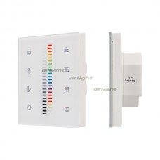 Панель Arlight Sens SR-2830C1-AC-RF-IN White (220V,RGB+DIM,4зоны) IP20 Пластик 020951