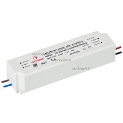 Блок питания ARPV-LV24050-A (24V, 2.0A, 48W) (ARL, IP67 Пластик, 3 года)