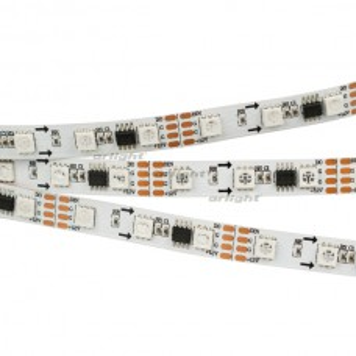 Лента SPI-5000-5060-60 12V Cx3 RGB-Auto (10mm, 13.2W/m, IP20) (ARL, Открытый, IP20)