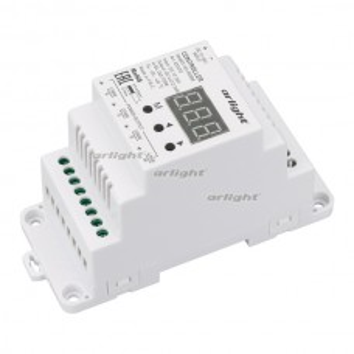 Контроллер SMART-K3-RGBW (12-36V, 4x5A, DIN, 2.4G) (ARL, IP20 Пластик, 5 лет)