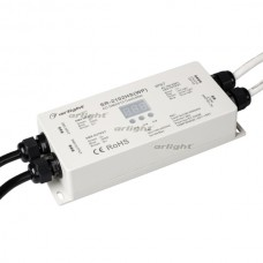 Декодер Arlight DMX SR-2102HSWP (220V, 1200W, 3CH) IP67 Пластик 021051