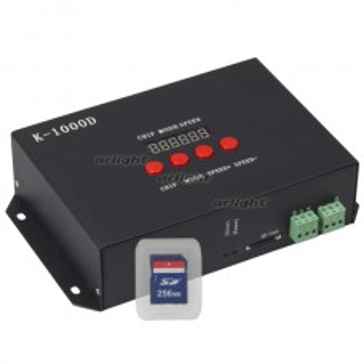 Контроллер Arlight DMX K-1000D (SD-card, 512 pix) IP20 Металл 019069