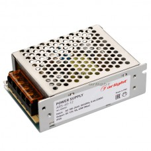 Блок питания ARS-60-12 (12V, 5A, 60W) (ARL, IP20 Сетка, 2 года)