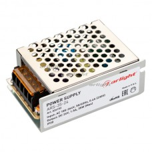 Блок питания Arlight ARS-35-24 (24V, 1.5A, 35W) IP20 Сетка 026152