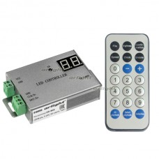 Контроллер Arlight HX-805 (2048 pix, 5-24V, SD-карта, ПДУ) 016999
