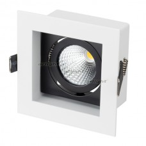 Светильник Arlight CL-KARDAN-S102x102-9W White (WH-BK, 38 deg) IP20 Металл 024124
