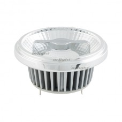 Лампа Arlight AR111-FORT-G53-15W-DIM Warm3000 (Reflector, 24 deg, драйвер 350mA) Металл 026883
