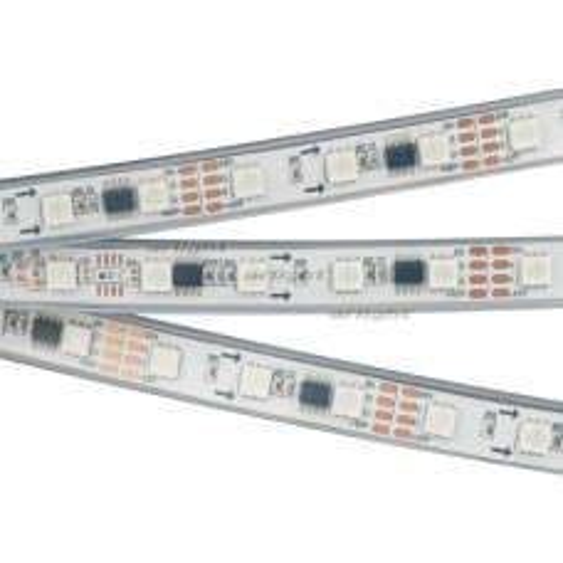 Лента Arlight SPI-5000PGS-5060-60 12V Cx3 RGB-Auto (12mm, 13.2W/m, IP67) 029445
