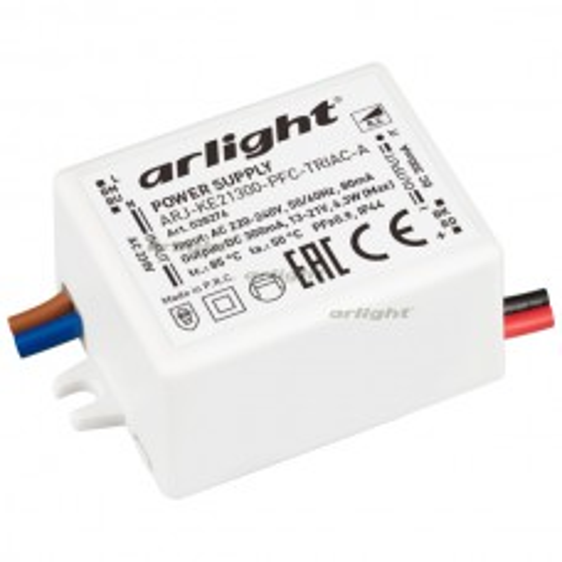 Блок питания Arlight ARJ-KE21300-PFC-TRIAC-A (6.3W, 300mA) IP44 028276