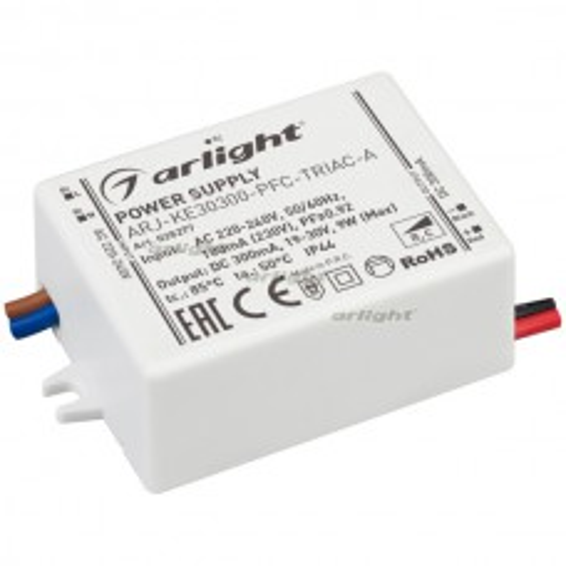 Блок питания Arlight ARJ-KE30300-PFC-TRIAC-A (9W, 300mA) IP44 028277