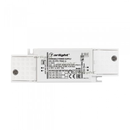 Блок питания Arlight ARJ-20-PFC-TRIAC-A (20W, 500-700mA) IP20
