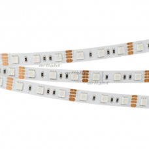 Лента Arlight RT 2-5000 12V RGB 2x (5060, 300 LED, LUX) 14.4 Вт/м, IP20 012340(B)
