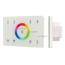 Панель Sens SMART-P83-RGB White (230V, 4 зоны, 2.4G) (ARL, IP20 Пластик, 5 лет)