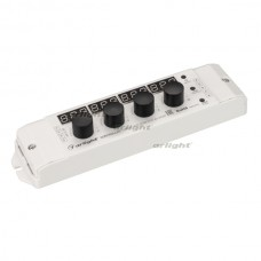 Контроллер SMART-K60-RGB-SUF (12-24V, 3x4A, 2.4G) (ARL, IP20 Пластик, 5 лет)