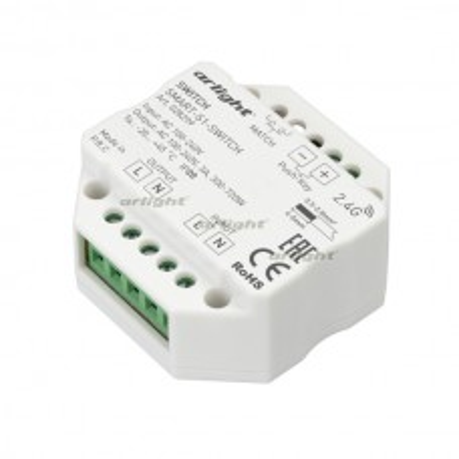 Контроллер-выключатель Arlight SMART-S1-SWITCH (230V, 3A, 2.4G) IP20 Пластик 028299