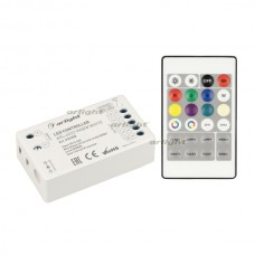 Контроллер Arlight ARL-4022-RGBW White (5-24V, 4x4A, ПДУ 24кн, RF) IP20 Пластик 032358