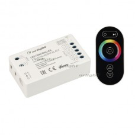 Контроллер Arlight ARL-OVAL-RGBW Black (5-24V, 4x4A, ПДУ Овал, RF) IP20 Пластик 032850