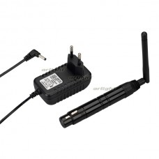 Усилитель SMART-DMX-Receiver Black (5V, XLR3 Male, 2.4G) (ARL, IP20 Металл, 5 лет)