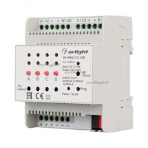 Контроллер тока SR-KN041CC-DIN (12-48V, 4x350/700mA) (ARL, -)