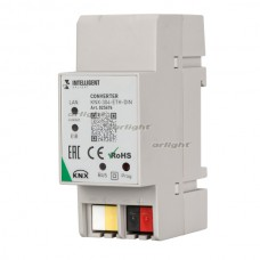 INTELLIGENT ARLIGHT Конвертер KNX-304-ETH-DIN (BUS) Пластик 025676