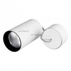 Светильник Arlight SP-POLO-R85-2-15W Day White 40deg (White, Black Ring) IP20 Металл