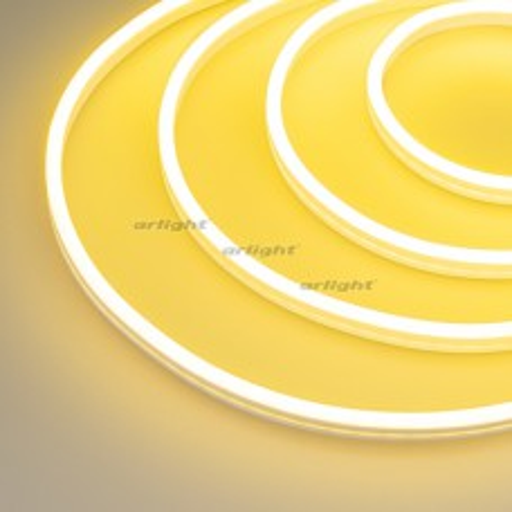 Гибкий неон Arlight GALAXY-1206-5000CFS-2835-100 12V Lemon (12x6mm, 12W, IP67) 031817