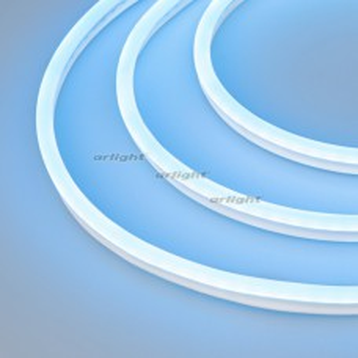 Образец Гибкий неон Arlight GALAXY-1608-5000CFS-2835-100 12V Azure 0.5M (16x8mm, 12W, IP67) 030977