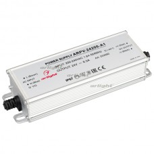 Блок питания ARPV-24200-A1 (24V, 8.3A, 200W) (ARL, IP67 Металл, 3 года)
