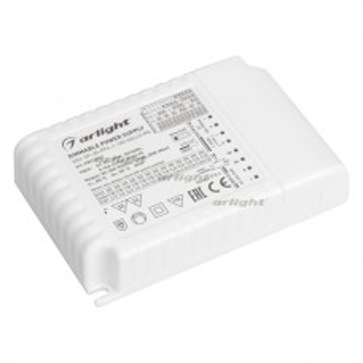 Блок питания ARJ-SP-30-PFC-1-10V-DALI2-PD (30W, 300-900mA) (ARL, IP20 Пластик, 5 лет)