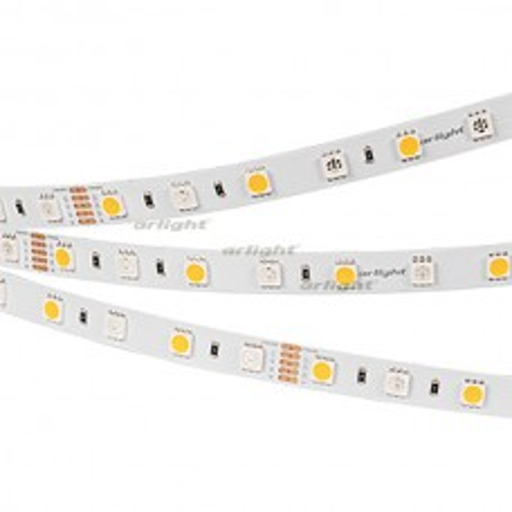 Лента RTW-SE-B60-10mm 24V RGBW-White (14.4 W/m, IP65, 5060, 5m) (arlight, Открытый)