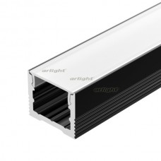 Профиль SL-SLIM-H13M-2000 BLACK (Arlight, Алюминий)