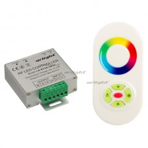 Контроллер LN-RF5B-Sens White (12-24V,180-360W) (ARL, IP20 Металл, 1 год)