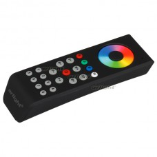 Сенсорный пульт SR-2819T8 Black (RGBW 8 зон) (ARL, IP20 Пластик, 3 года) 018833