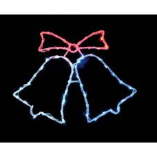 Световая фигура 230V  60 LED красный+белый+синий, 10.8W, 20mA, с контроллером, IP 20, шнур 1.5м 0.75мм, LT013 26711