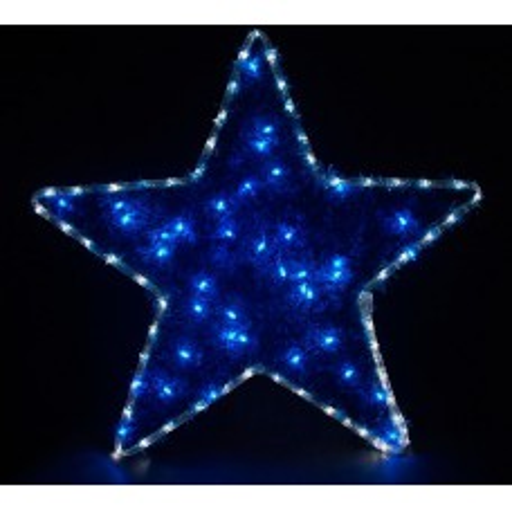 Световая фигура 230V4м LED  белый+синий, 24 LED/1м, 4.8W, 20mA, IP 44, шнур 1,5м х 1мм, LT015 26713