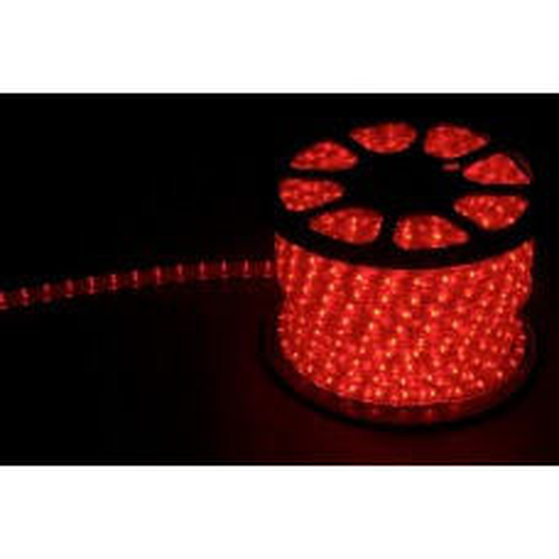 Дюралайт (световая нить) со светодиодами, 3W 50м 230V 72LED/м 11х17мм, красный-желтый, LED-F3W 26212