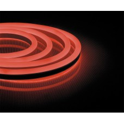 Cветодиодная LED лента Feron LS720 неоновая, 120SMD(2835)/м 9.6Вт/м  50м IP67 220V красный 29562