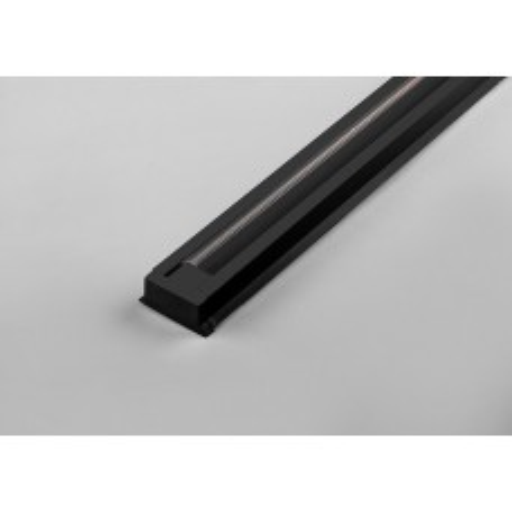 Шинопровод для трековых светильников, черный, 2м,  в наборе токовод, заглушка, крепление, CAB1003 10341