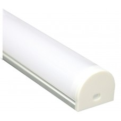 Профиль алюминиевый круглый широкий, серебро, CAB283 10302