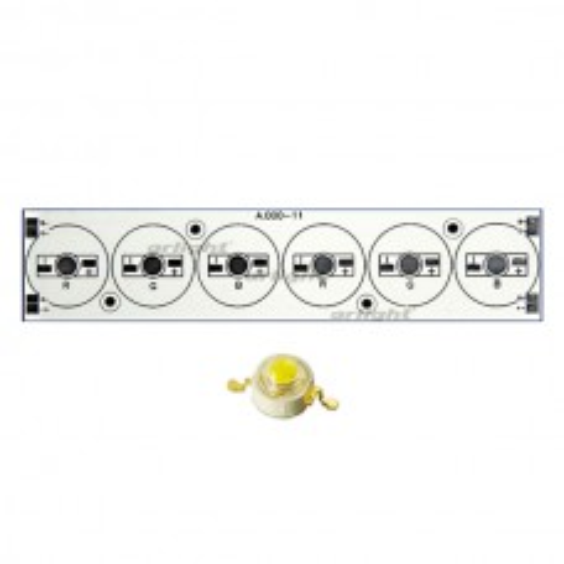 Плата Arlight 156x34-6E 2R-2G-2B Emitter (6x, 000-11) (Turlens, -) 011058