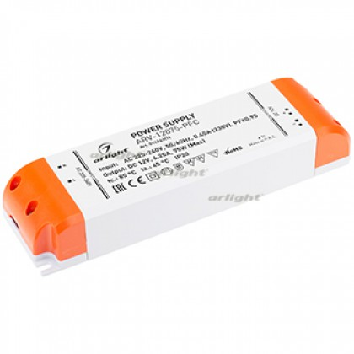 Блок питания Arlight ARV-12075-PFC (12V, 6.25A, 75W, IP20)