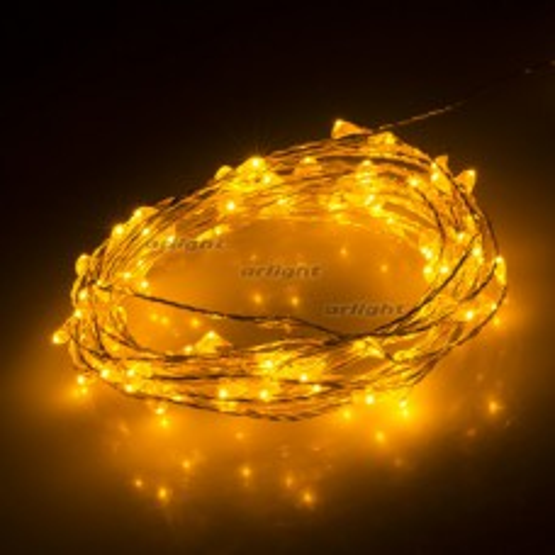 Светодиодная нить WR-5000-1608-100LED Yellow (12V, 2.1W) (ARL, IP65) 030214