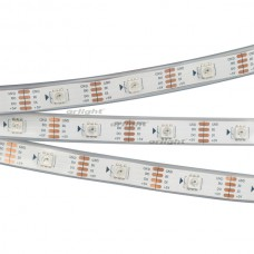 Лента SPI-5000P-RAM 5V RGB (5060, 150 LED x1, 2813) (ARL, Закрытый, IP66)