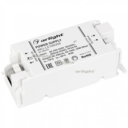 Блок питания Arlight ARJ-LE100350 (35W, 350mA, PFC, IP20)