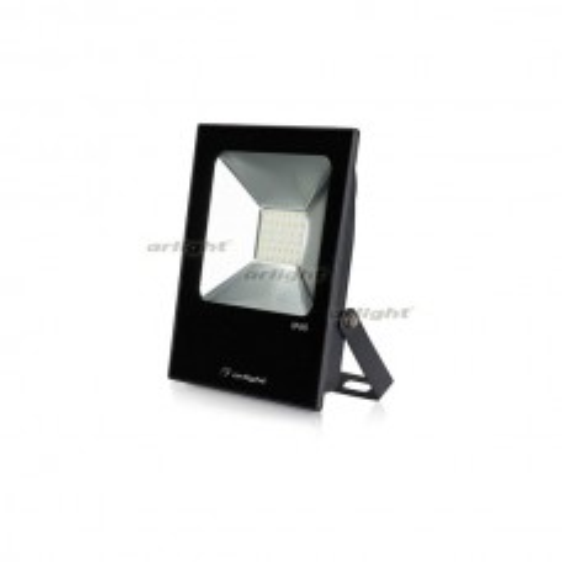 Светодиодный прожектор AR-FLAT-ICE-30W-220V White (Black, 120 deg) (ARL, Закрытый) 023579