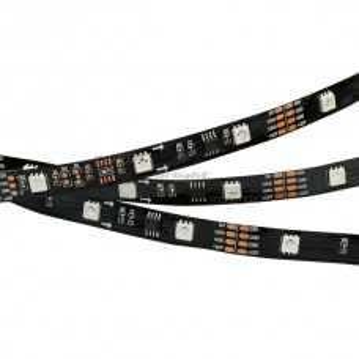 Лента SPI-5000-AM 12V RGB (5060,150 LED x3,1804, Black) (ARL, Открытый, IP20)