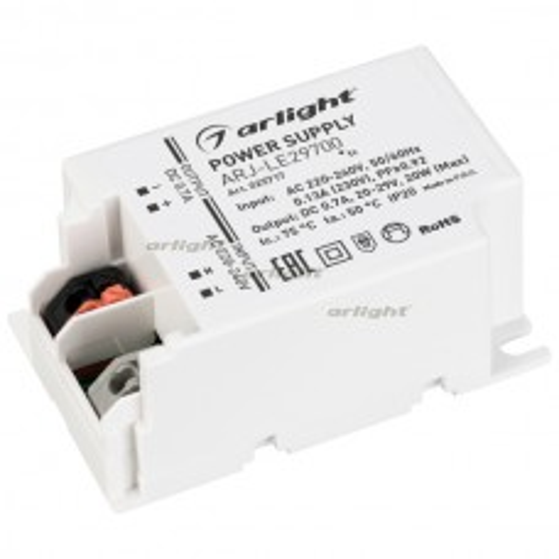Блок питания Arlight ARJ-LE29700 (20W, 700mA, PFC, IP20)