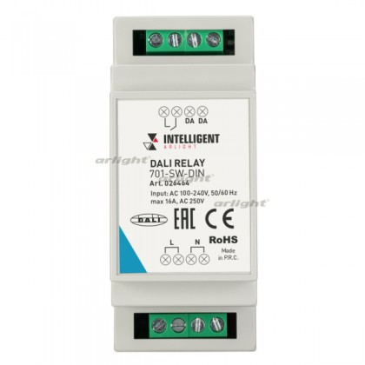 INTELLIGENT ARLIGHT Релейный модуль DALI-701-SW-DIN (BUS, 16A) (IARL, DIN)