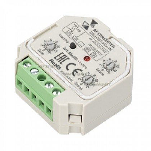 INTELLIGENT ARLIGHT Конвертер RF-сигнала DALI-307-MIX-IN (DALI-BUS, RF, PUSH) (IARL, Пластик)